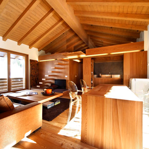 Wooden apartments in Italy