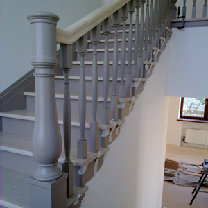 Gray ladder for a country house