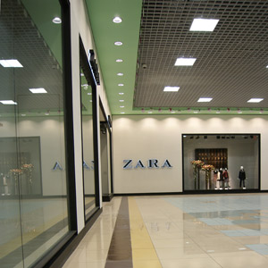 Shopping and recreation center ZARA shop Collage 1st floor Penza 2012