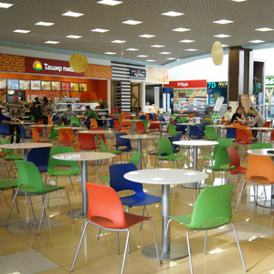 Shopping and recreation center food court Collage 2nd floor Penza 2012